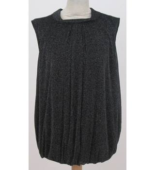 Debenhams - Size: 20 - Black metallic evening top