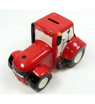 Red Tractor Money Box