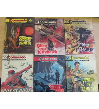 Commando War Stories in Pictures - set of 11 copies