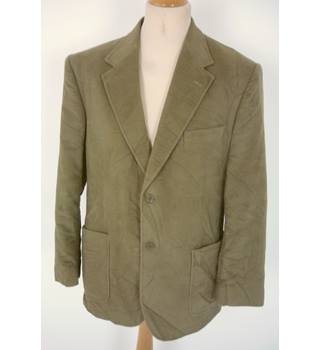 "Peter Christian Size: L, 42"" chest, tailored fit Dark Tan Brown Casual/Stylish Moleskin Cotton Single Breasted Jacket"