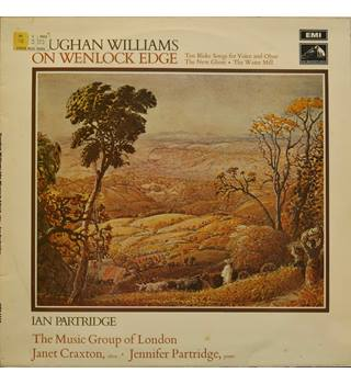 Vaughan Williams  On Wenlock Edge. The Music Group of London/Ian Partridge.  HMV HQS 1236