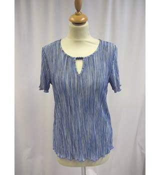 Windsmoor - Size: S - Blue - Short sleeved shirt