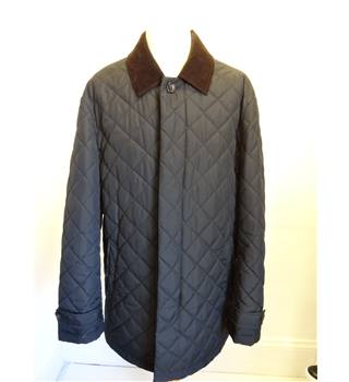 M&S Blue Harbour size L black padded coat