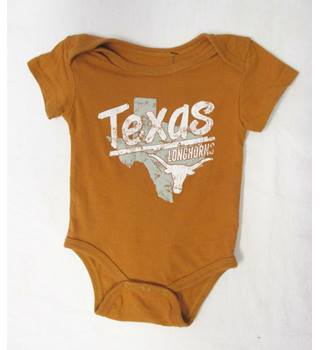 Texas LONGHORNS babygrow - Size: 3 Months - Orange