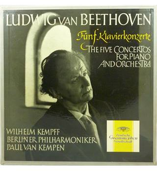 Beethoven - The Five Concertos for Piano and Orchestra - Berliner Philharmoniker, Wilhelm Kempff, Paul van Kempen - 18371/74