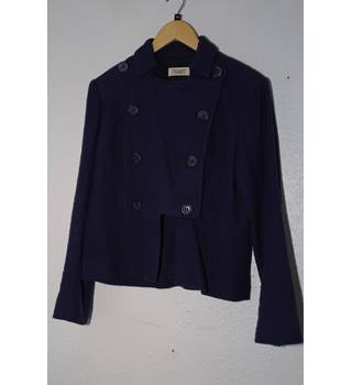 Toast - Double Breasted Jacket in Navy Blue- Size: 14