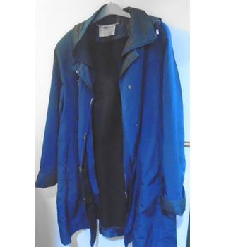 Jacques Vert - Long Blue Coat - Size Large Jacques Vert - Size: L - Blue - Raincoat