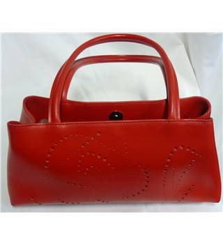 FURLA Red Leather handbag with cutwork design FURLA - Size: M - Red - Handbag