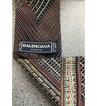 Balenciaga - Blue and Brown Tie