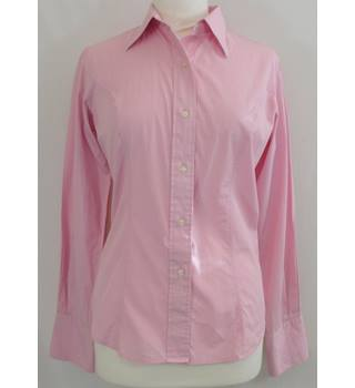 T M Lewin - Size: 10 - Pink - Long sleeved shirt
