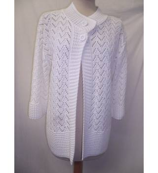Elegant Collection - Size: L / XL - White - Cardigan