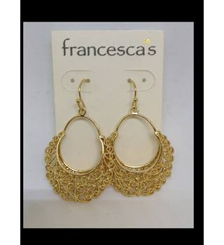 Brand new Francesca's Gold Hoop Earrings Unbranded - Size: Medium - Metallics