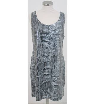 F&F - Size: 14 - Grey Snakeskin Sequinned Dress