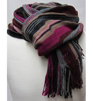 Ted Baker Men's Striped Scarf. - Size: 12.5 inches wide by 68 inches long.