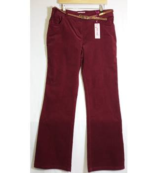 Per Una size 14 red cords BNWT size 14 long M&S Marks & Spencer - Size: M - Red - Trousers