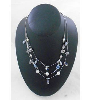 Three Stranded Bead Necklace