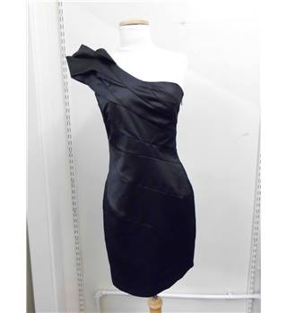 Lipsy Size 8 Black One-Shoulder Evening Dress