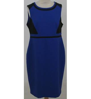 Dorothy Perkins - Size: 12 - Purple and black sleeveless dress