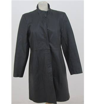 New Look  Size: 16  Black Leather Smart Coat