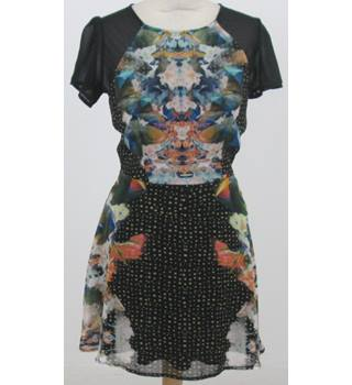 BNWT: ILWF: Size S: Black mix skater dress