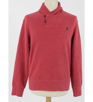 Polo by Ralph Lauren Size S Cranberry Shawl Collar Jumper