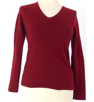 Charles Tyerwhitt - Size XS - Burgundy with v-neck jumper
