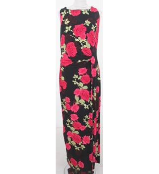 NWOT M&S Collection Size: 10- Black rose print maxi-dress