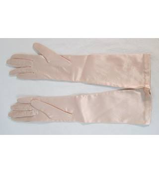 Unbranded - Size: M - Elegant Pink Silky - Evening gloves