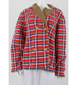 Striking Size XL Patriotic Coloured Cardigan