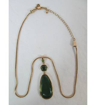 M&S Marks & Spencer - Size: One size: regular - Gold/Green - Pendant