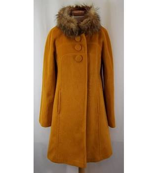 BRAND NEW WITH TAGS - Wallis - Size: 10 - Golden Mustard - Italian Wool - COAT