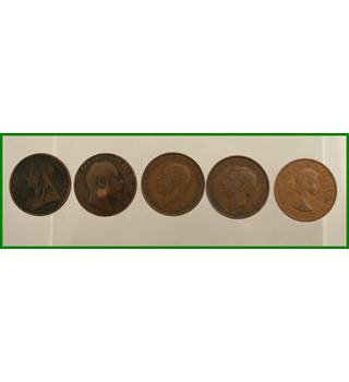 Five - 20th Century Monarchs - 1 penny
