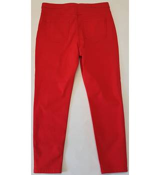 BNWT M&S Marks & Spencer size s red jeans