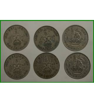 Shillings - date sequence X 2 - 1947 -1949