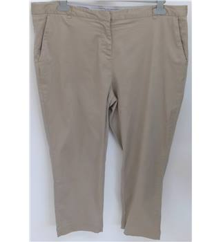 Laura Ashley - Size 16 - Beige - Cropped trousers