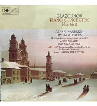 Glazounov* / Arensky* ‎– Piano Concertos Nos. 1 & 2 / Fantasia On Themes By Ryabinin