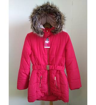 BNWT M&S fur trimmed thermal long padded coat M&S Marks & Spencer - Size: 12 - Pink