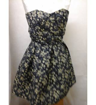 Next - Size: 6 - navy and gold, lined dress