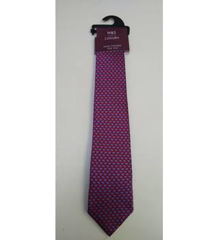 BNWT m&s handmade silk tie M&S Marks & Spencer - Size: One size - Red