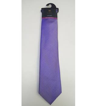 M&S collection hand finished silk tie M&S Marks & Spencer - Size: One size - Blue