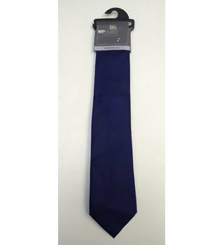 M&S collection woven pure silk tie M&S Marks & Spencer - Size: One size - Blue