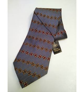 Franco Valentino italy luxury pure silk tie franco valentino - Size: One size - Brown