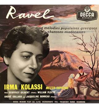 Ravel - Cinq Melodies Populaires Grecques / Chansons Madecasses