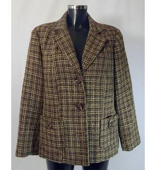 Warehouse Jacket - Brown - Size 18 Warehouse - Size: 18 - Brown