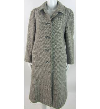 VINTAGE Unbranded - Size: 14 - Grey, cream and light Brown - Tweed Coat