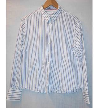 Hobbs - Size: 16 - Blue - Long sleeved shirt