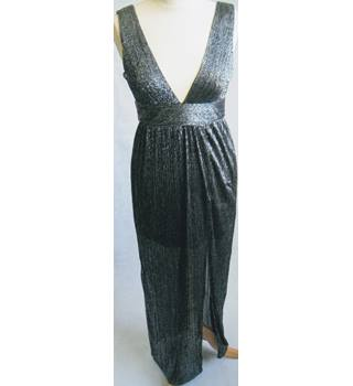 New Look silver lurex maxi dress size 8 Petite BNWT New Look - Size: 8 - Metallics - Full length dress