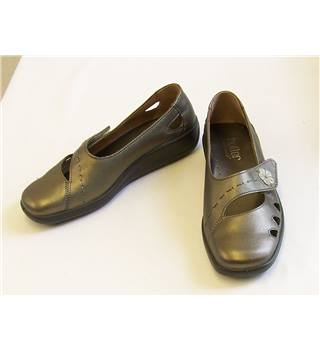 Hotter 'Bliss' - Size: 4.5 - Satin nickel - Flat shoes