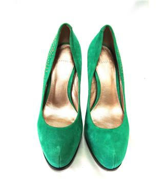 Carvela Size 6  Jade Green Suede Stiletto Shoes