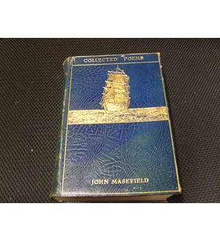 John Masefield Collected Poems 1925 Heinemann deluxe edition blue leather and gilt sailing ship decoration